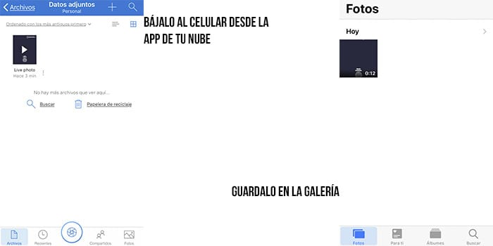 guardando en el iphone