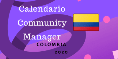 Calendario Community Manager 2020 Colombia