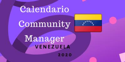 Calendario Community Manager 2020 Venezuela