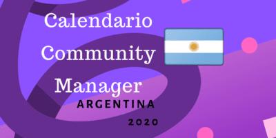 Calendario Community Manager 2020 Argentina