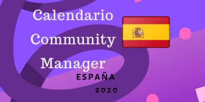 Calendario Community Manager 2020 España