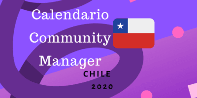 Calendario Community Manager 2020 Chile