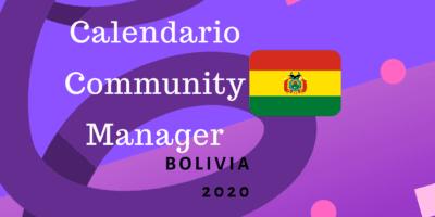 Calendario Community Manager 2020 Bolivia