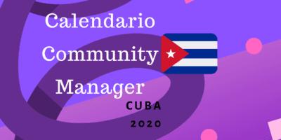 Calendario para community managers cuba 2020