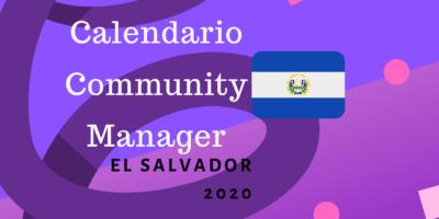 Calendario para Community Managers el salvador 2020