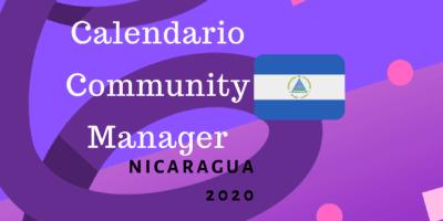 Calendario para community manager nicaragua 2020