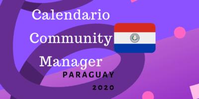 Calendario para community managers 2020 paraguay