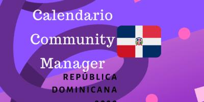 Calendario community manager dominicana 2020