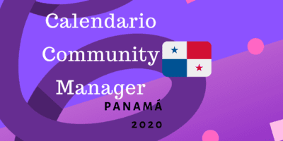 Calendario Community Manager panamá 2020