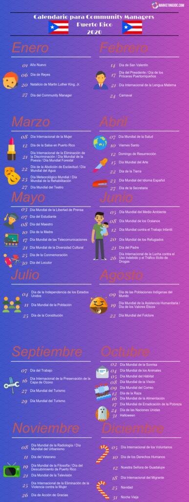 Calendario Community Manager 2020 Por Paises Actualizado